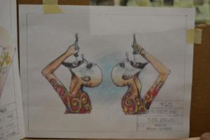 sword swallower drawing